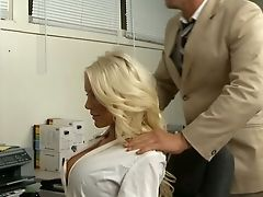 American, Babe, Big Tits, Blonde, Blowjob, Hardcore, Holly Price, Licking, Office, Secretary,